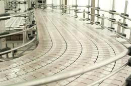 Linha de produção de fabrica de materiais plásticos